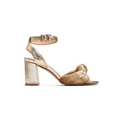 8411-8 Gold Block Heels