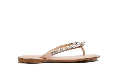 066-47 Pink Pearl Thin Flip Flops