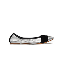 1800-5 Silver Pointy Metallic Flats