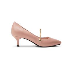 6091-33 Pink Strap Ballet Heels