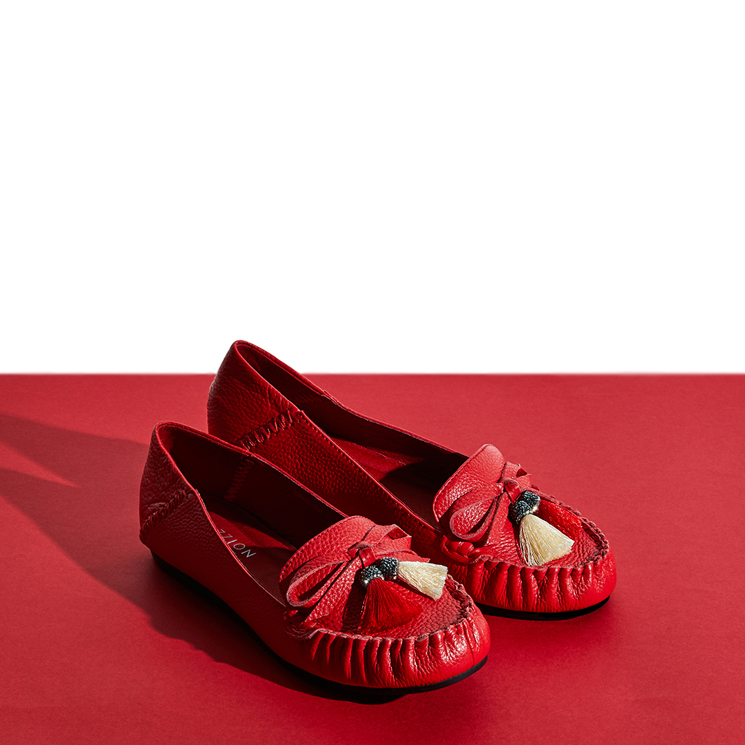 C801B-001 Red Casual Loafer
