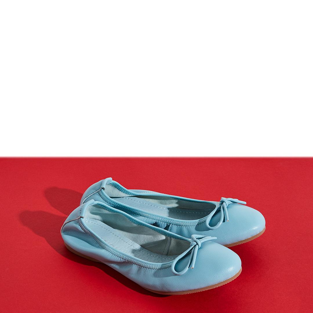 823-1 Blue Classic Ballerinas