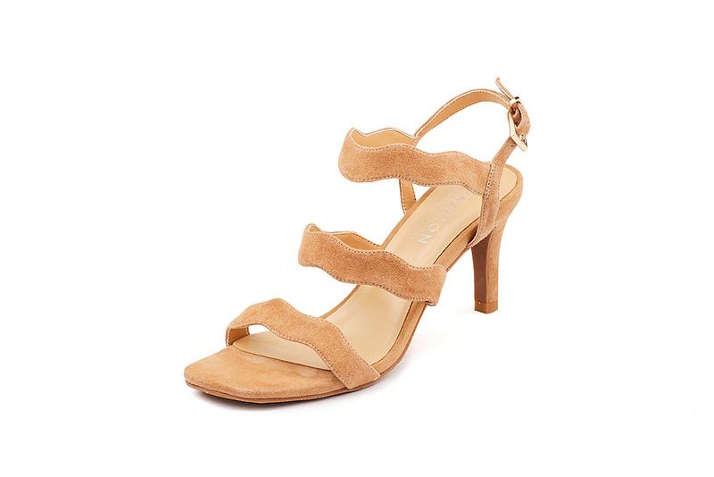 783a76ff841 ... Silver Cinderella Heels. Shop in PAZZION stores. 7. Wavy Strappy Sandals