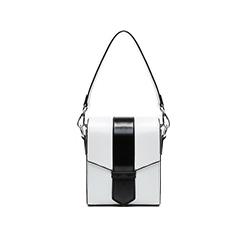 8060 White Dual-Coloured Boxy Bag
