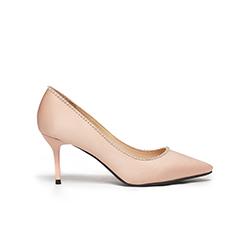 5590-B9 Pink Silver Trim Heels