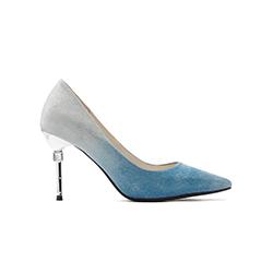 B301-B1 Blue Heels With Metal Stiletto