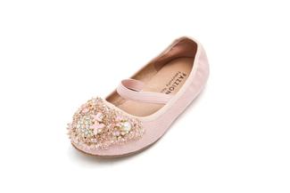 BB08-165 Kids Pink Glistening Flats