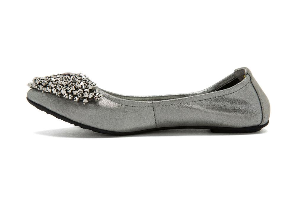 Gunmetal Flat Shoes For Women