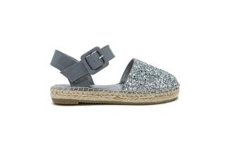 BB1582-7 Kids Silver Sandal