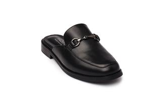 17008-15 Black Slip-on Mules