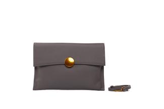 3690 Grey Clutch Bag