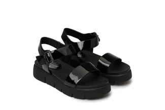 670-1 Black Comfy Sandals