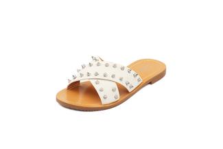 444-14 Beige Casual Sandals