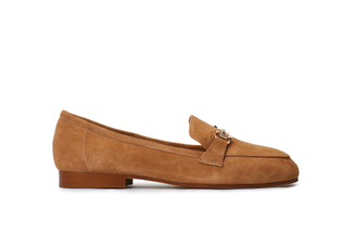 7399-6A Almond Metal Trim Suede Loafers