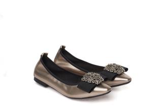 3230-2 Bronze Jeweled Metallic Flats