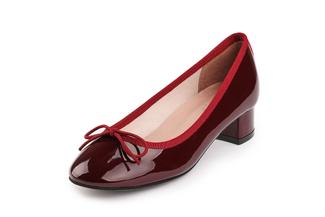 520-1 Maroon Chunky Heels