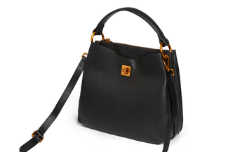 90053 Black Slouchy Leather Tote