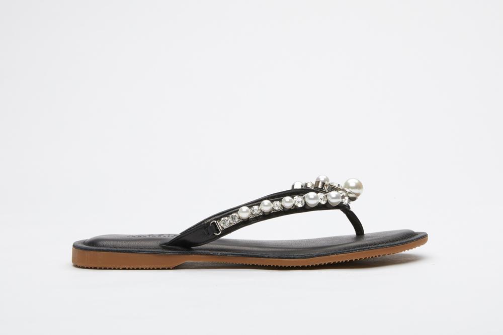 5f5270a737b1 066-47 Black Pearl Thin Flip-flops
