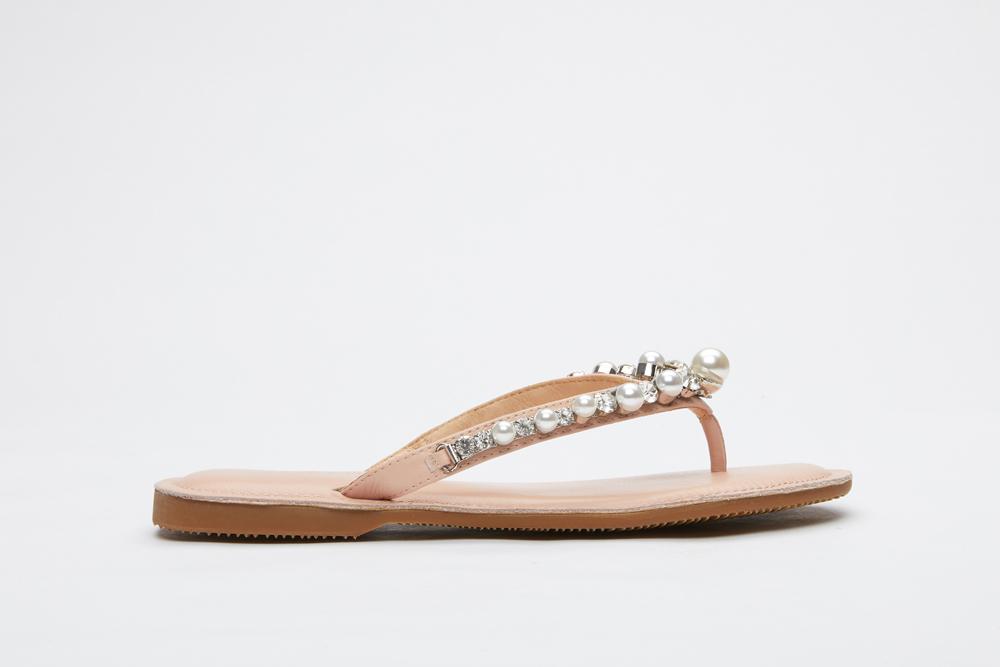 b758a81d50e8 066-47 Pink Pearl Thin Flip-flops