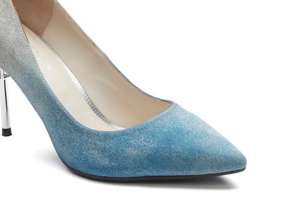 2804b784b2e90b ... B301-B1 Blue Iridescent Heels with Metal Stiletto PAZZION crazy price  dff4a f34b3 . ...