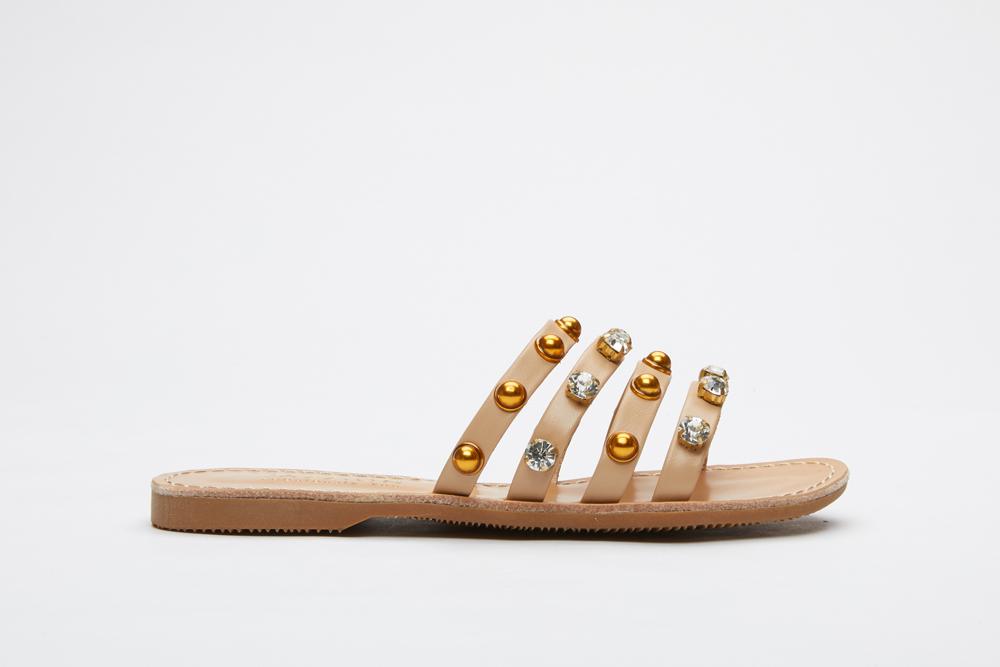 0b5974a4d803 3075-16 Almond Cage Slide Sandals