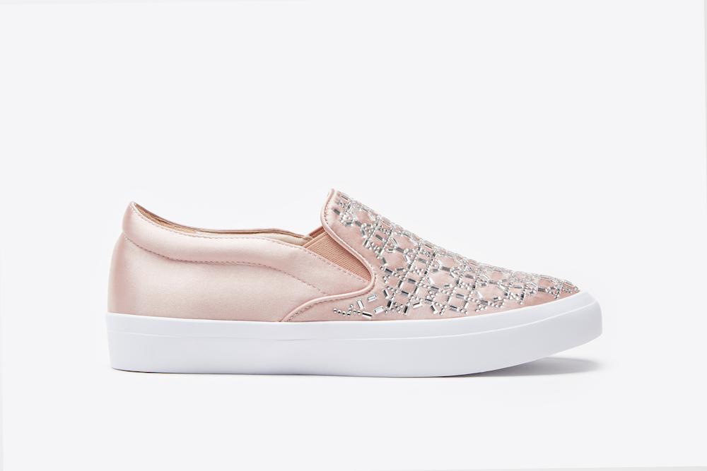 fda4d292dada 1886-2 Pink Rhinestone Sneakers