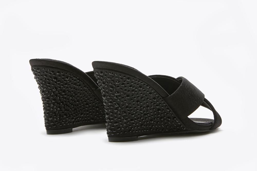 f1d666b26788 ... 3041-1 Black Criss Cross Wedge Sandals. previous. previous. Share