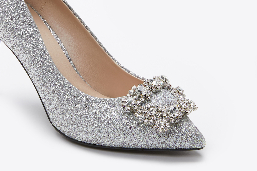 9ca4549567765c ... 6162-16A Silver Sparkly Embellished Front Heels. previous. previous.  Share