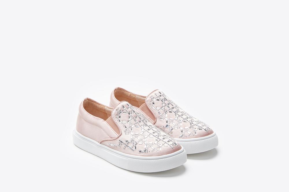 3aaf051b4301 BB1886-2 Kids Pink Rhinestone Sneakers