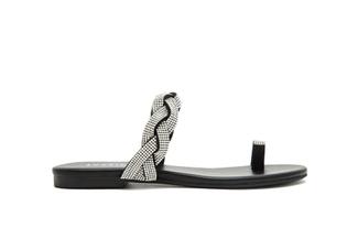 1081-2 Black Diamante Sandals