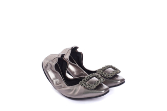 1318-6 Pewter Crystal Foldable Flats