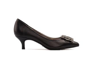286-8 Black Sophisticated Heels
