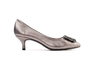 286-8 Pewter Sophisticated Heels