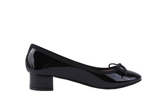 520-1 Black Chunky Heel