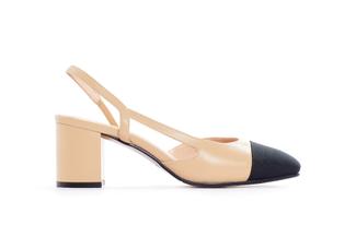 A569-3 Almond Block Heels
