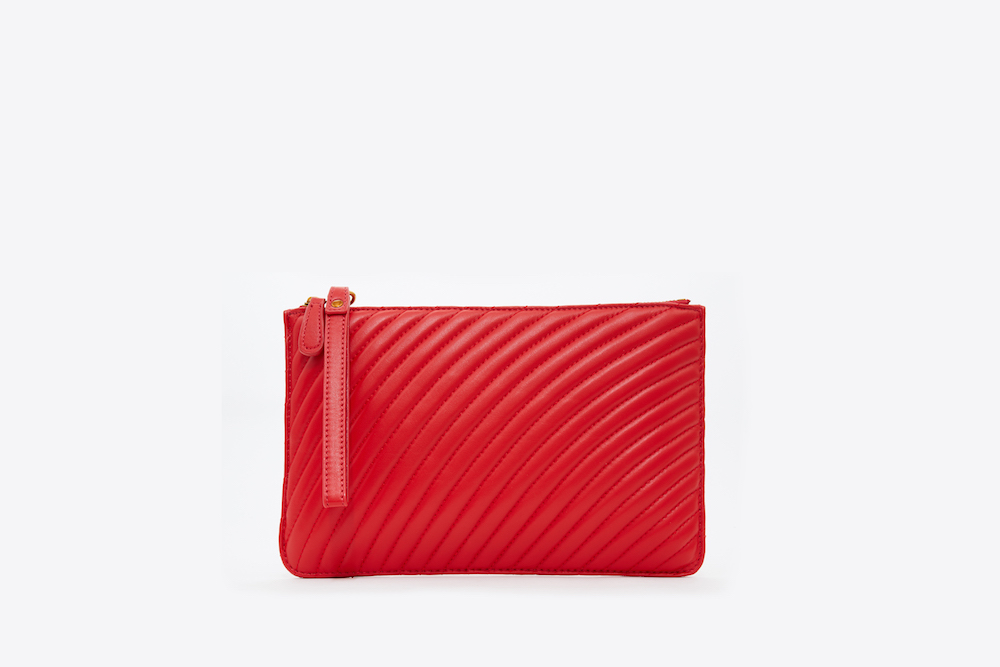 3905-1 Red Quilted Wristlet Purse | PAZZION