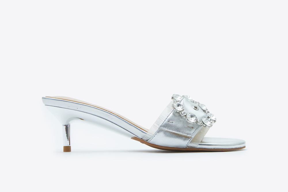 42a354ce27d2 128-1 Silver Crystal Buckle Sandals