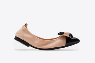 3869-2 Almond Vintage Foldable Ballet Flats