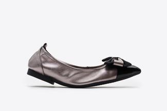 3869-2 Pewter Vintage Foldable Ballet Flats