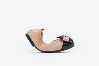 BB3869-2 Kids Almond Vintage Foldable Ballet Flats