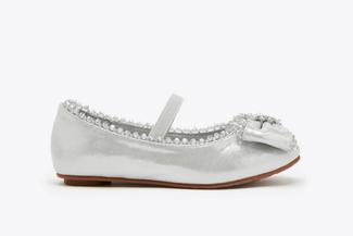 BB08-166 Silver Kids Dazzling Gems Flats