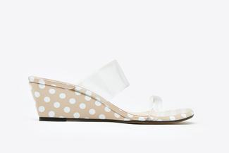 3671-2 Almond Polka Dot Sandals
