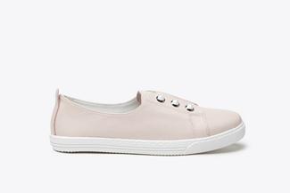 668-3 Pink Contrast Stud Embellished Sneakers