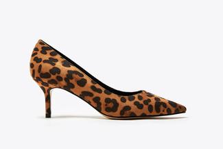 82321-1 Almond Leopard Print Kitten Heels