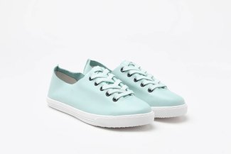 668-7A Mint Pastel Lace-Up Leather Sneakers