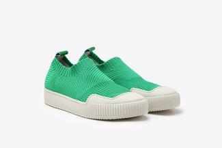 5M-1 Green Slip-On Sock Sneakers