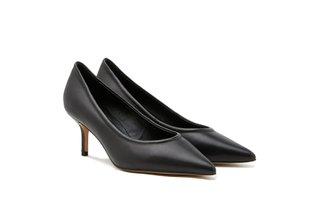 9823-20 Black Classy Sleek High Heels