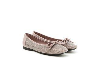 1319-3 Lilac Sparkling Diamante Square Toe Flats