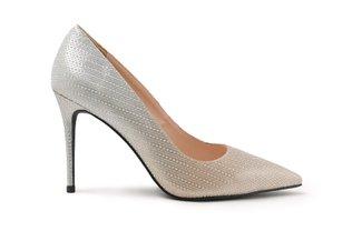8759-56 Gold Diamante Gradient Effect Leather High Heels