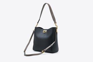 900262 Black Contrast Everyday Top Handle Handbag